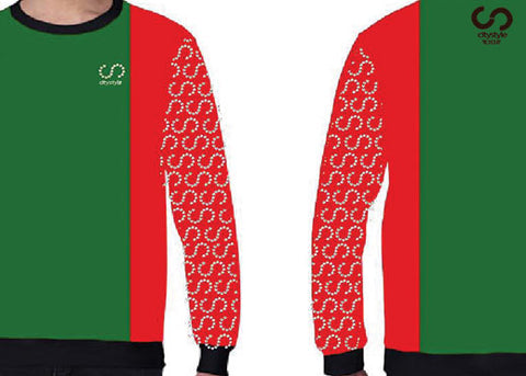 New CS Red/Green/Black Sweater