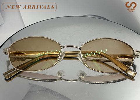 Cafr' C422F Gold Wire Frame with Brown Transitional Lenses
