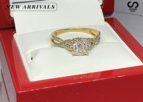 Gold Diamond Ring Female