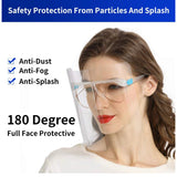 Reusable Face Shields that Fit on Glasses