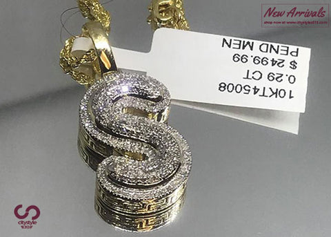New Diamond S Pendant & Chain