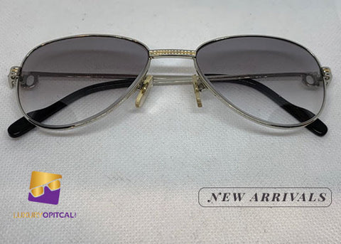 Authentic Cartier Silver Wire Frame w/ Light Purple Lenses