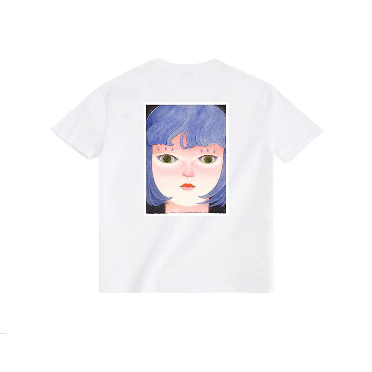 PROD Bldg $5 Sale XS / White Day Dreaming - Blue Dream Short Sleeve T-Shirt