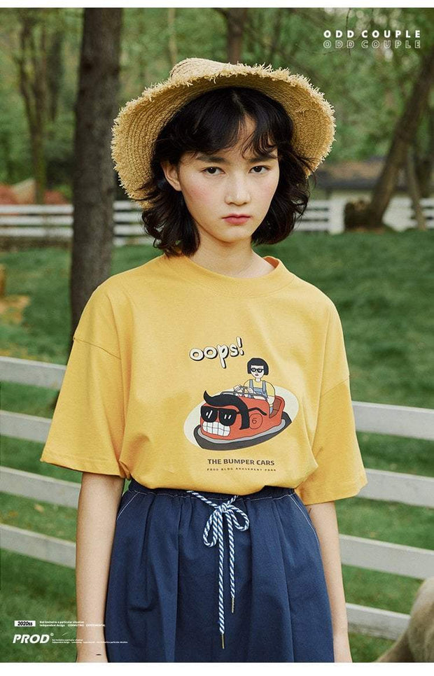 PROD Bldg Boxy T-Shirt Bumper Car Boxy Short Sleeve T-Shirt