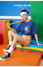 PROD Bldg Boxy T-Shirt S / Blue Baseball Batter Boxy Short Sleeve T-Shirt