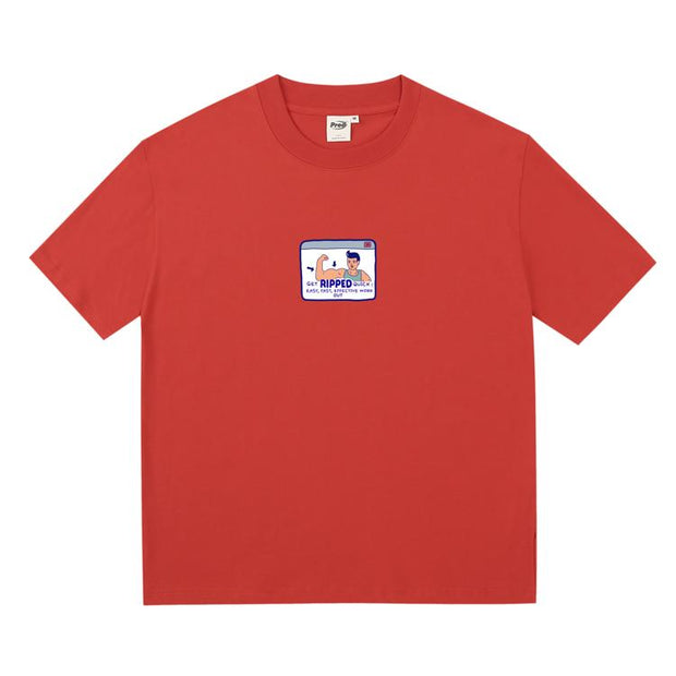 PROD Bldg Boxy T-Shirt S / Red Muscel Man Boxy Short Sleeve T-Shirt