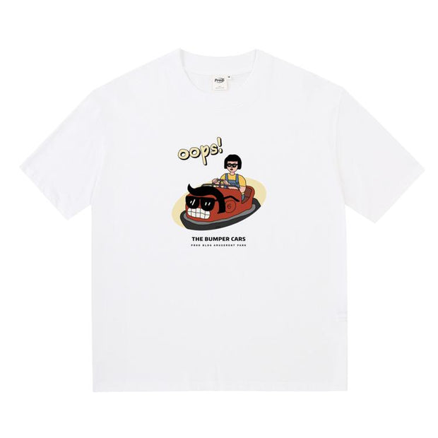 PROD Bldg Boxy T-Shirt S / White Bumper Car Boxy Short Sleeve T-Shirt