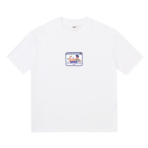 PROD Bldg Boxy T-Shirt S / White Muscel Man Boxy Short Sleeve T-Shirt