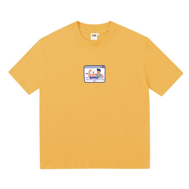 PROD Bldg Boxy T-Shirt S / Yellow Muscel Man Boxy Short Sleeve T-Shirt