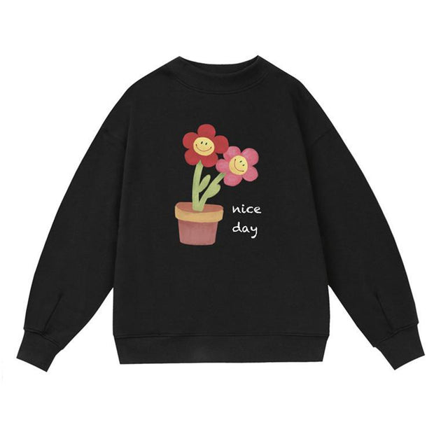 PROD Bldg Crewneck 1 / Black Nice Day - Flower Pot Crewneck Sweatshirt