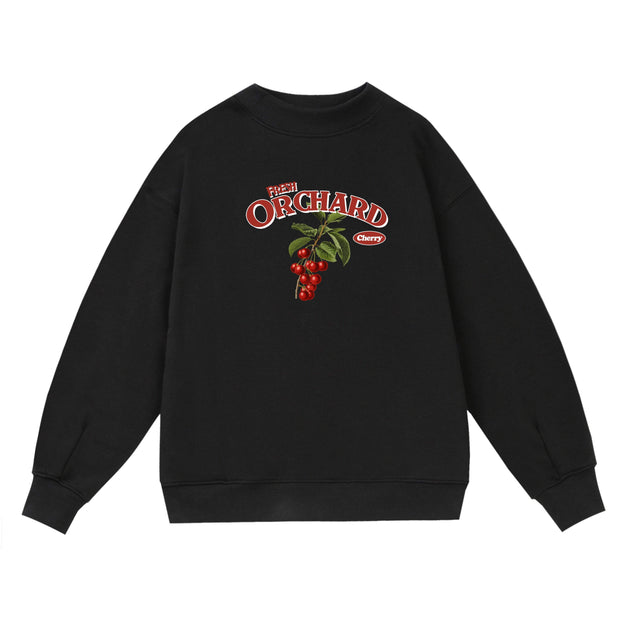 PROD Bldg Crewneck 1 / Black Orchard - Cherry Crewneck Sweatshirt