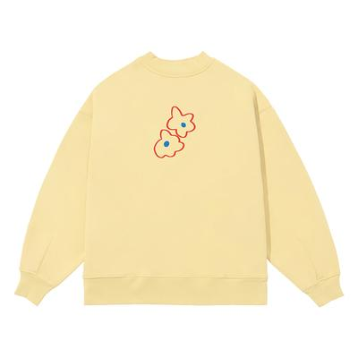 PROD Bldg Crewneck 1 / Butter Yellow Blue Hearts Crewneck Sweatshirt