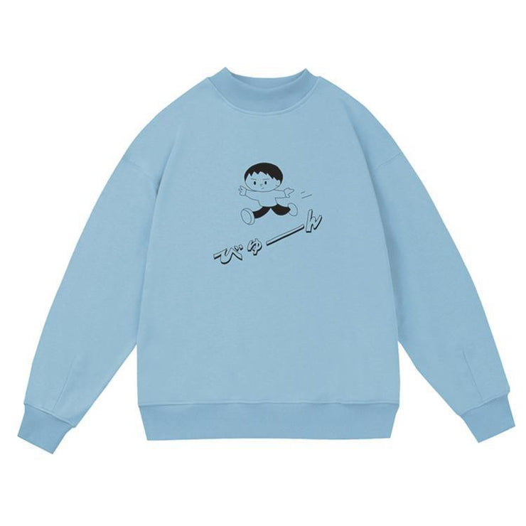 PROD Bldg Crewneck 1 / Light Blue Playful Boy Crewneck Sweatshirt