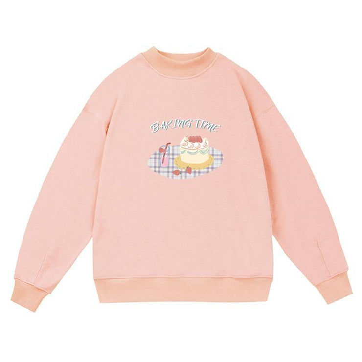 PROD Bldg Crewneck 1 / Pink Baking Time Crewneck Sweatshirt