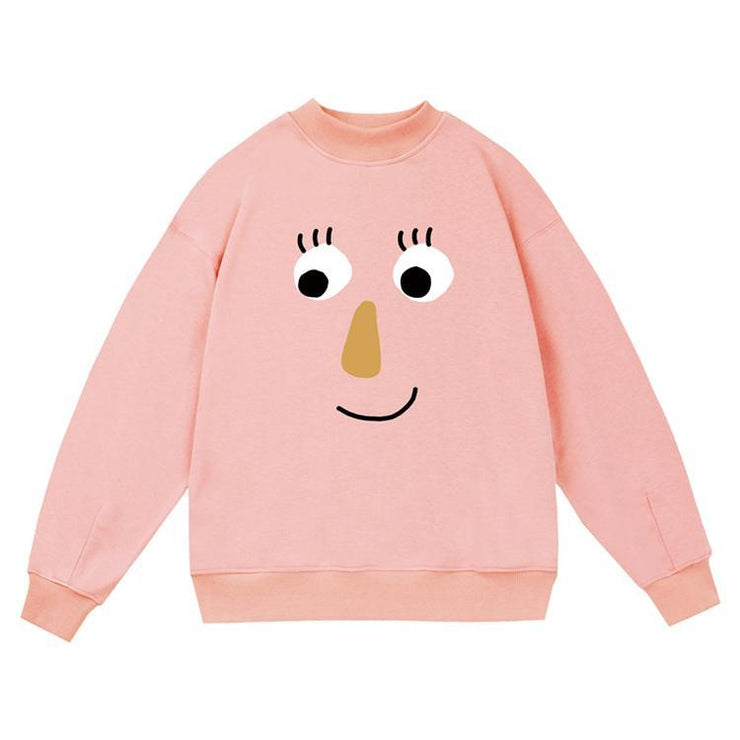 PROD Bldg Crewneck 1 / Pink Big Face - Girl Crewneck Sweatshirt
