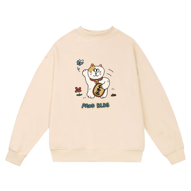 PROD Bldg Crewneck Lucky Cat Crewneck Sweatshirt