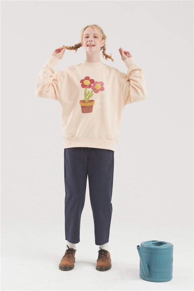 PROD Bldg Crewneck Nice Day - Flower Pot Crewneck Sweatshirt