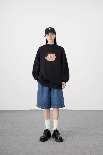 PROD Bldg Crewneck Unhappy Face Crewneck Sweatshirt