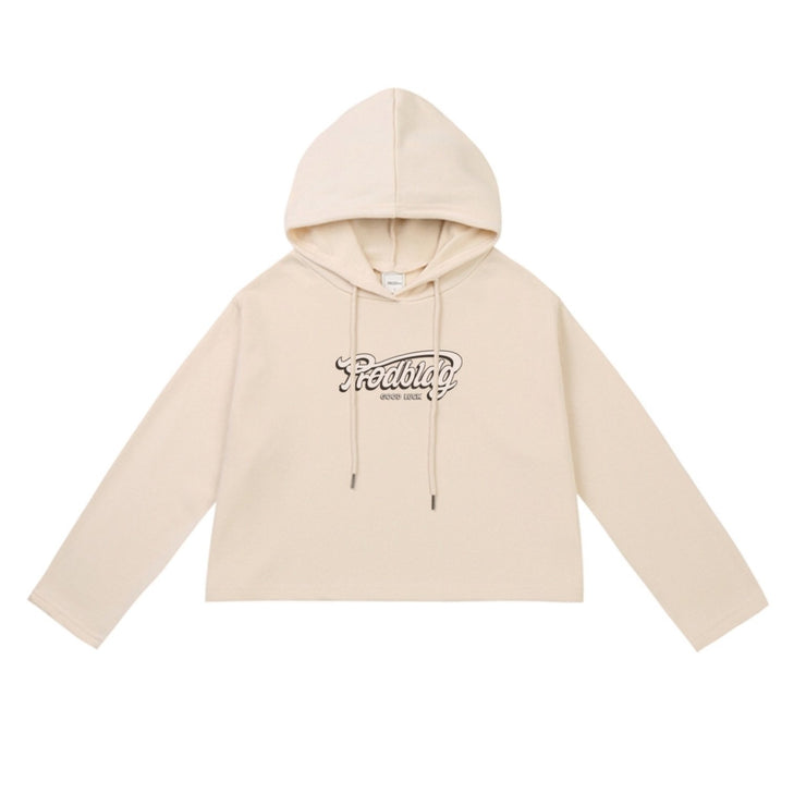 PROD Bldg Crop Top Hoodie 1 / Cream PROD Good Luck Crop Top Hoodie - Clearance