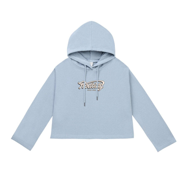 PROD Bldg Crop Top Hoodie 1 / Light Blue PROD Good Luck Crop Top Hoodie - Clearance