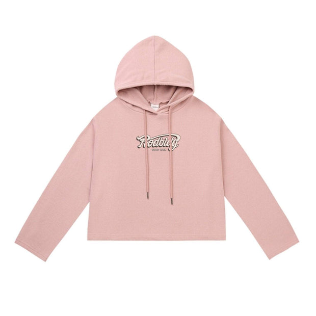 PROD Bldg Crop Top Hoodie 1 / Pink PROD Good Luck Crop Top Hoodie - Clearance