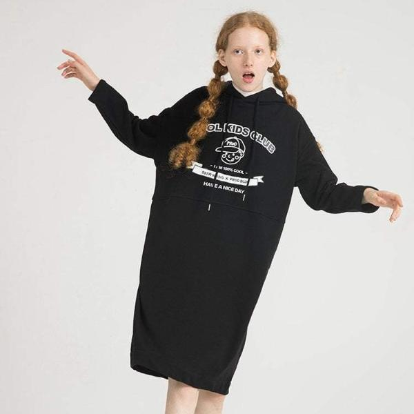 PROD Bldg Hooded Dress One Size / Black Cool Kids Club