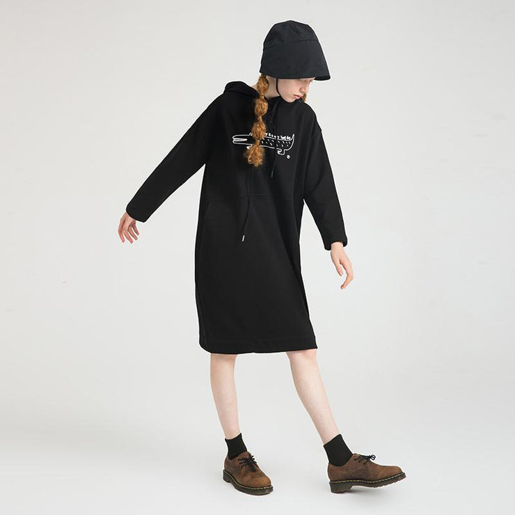 PROD Bldg Hooded Dress One Size / Black Long Day (Croc)