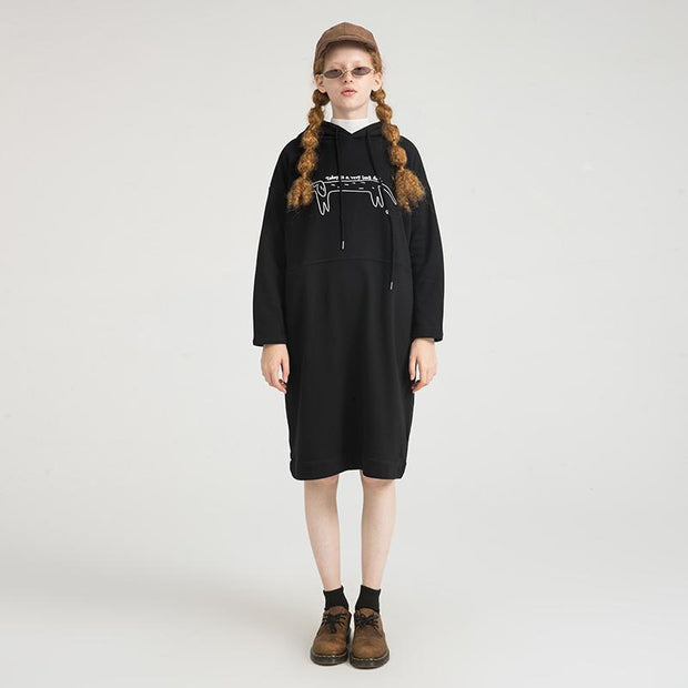 PROD Bldg Hooded Dress One Size / Black Long Day (Dog)