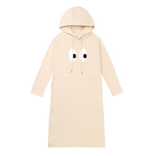 PROD Bldg Hooded Dress One Size / Cream I See U