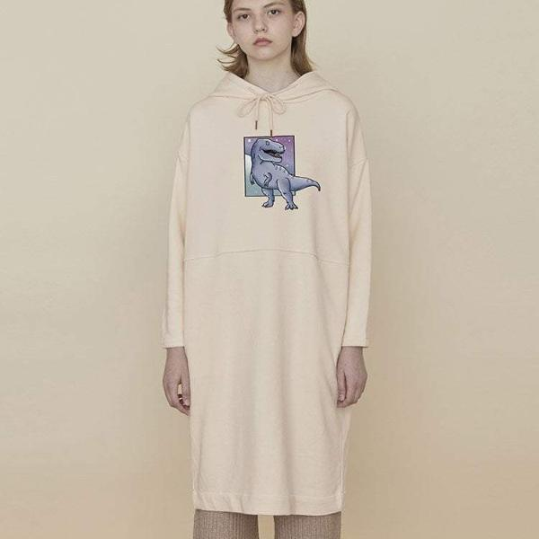 PROD Bldg Hooded Dress One Size / Cream T-Rex