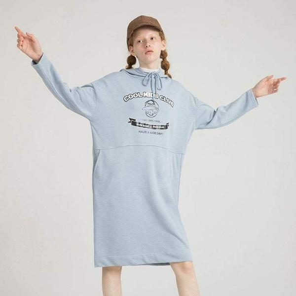 PROD Bldg Hooded Dress One Size / Light Blue Cool Kids Club