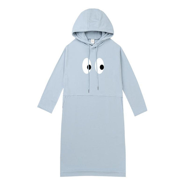 PROD Bldg Hooded Dress One Size / Light Blue I See U