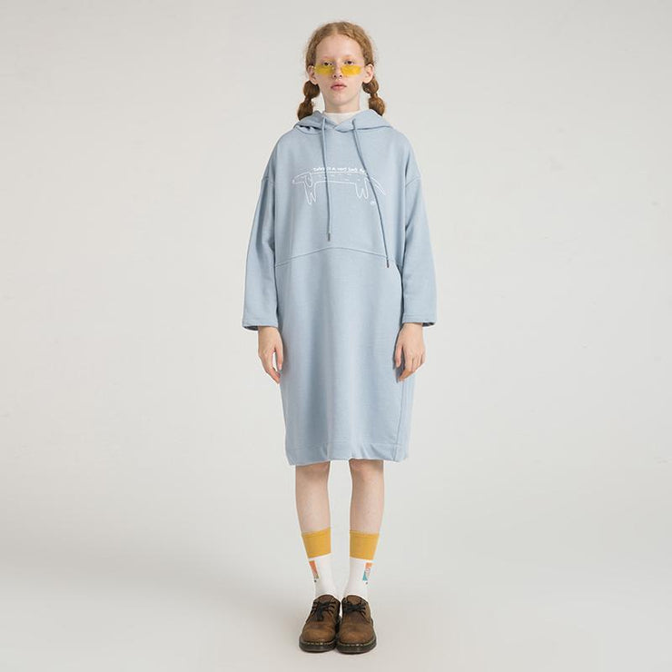 PROD Bldg Hooded Dress One Size / Light Blue Long Day (Dog)