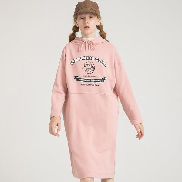 PROD Bldg Hooded Dress One Size / Pink Cool Kids Club