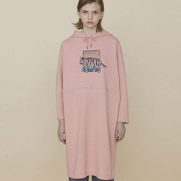 PROD Bldg Hooded Dress One Size / Pink Tiger