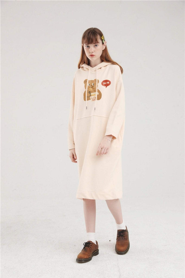 PROD Bldg Hoodie Dress One Size / Cream Spicy Ramen Long Sleeve Hoodie Dress