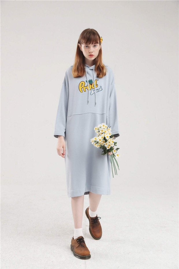 PROD Bldg Hoodie Dress One Size / Light Blue PROD Brand Long Sleeve Hoodie Dress