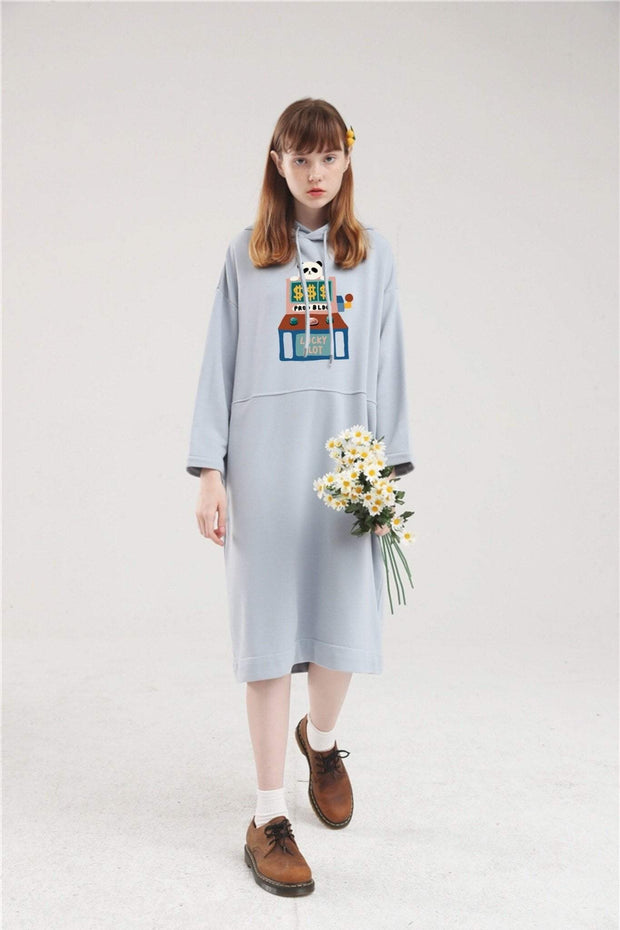 PROD Bldg Hoodie Dress One Size / Light Blue PROD Lucky Slot Long Sleeve Hoodie Dress