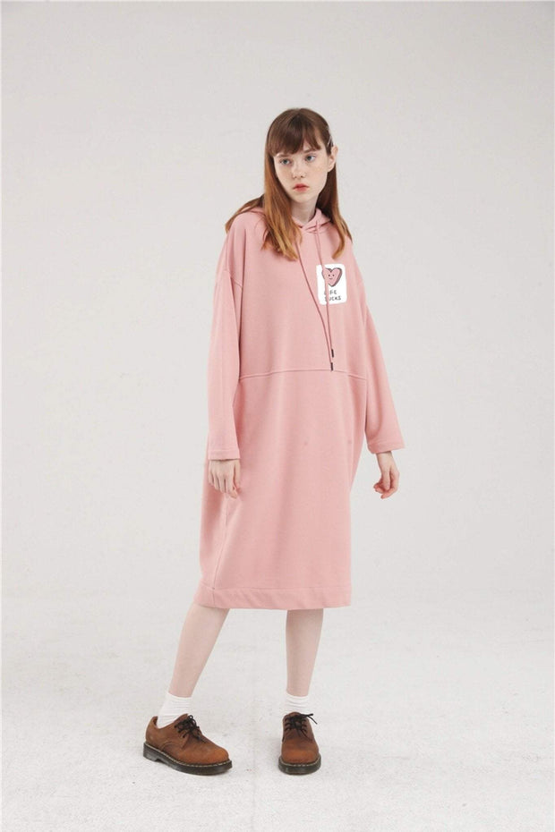PROD Bldg Hoodie Dress One Size / Pink Life Sucks Long Sleeve Hoodie Dress