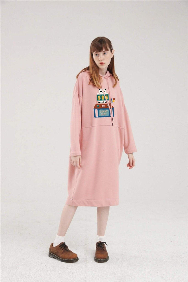PROD Bldg Hoodie Dress One Size / Pink PROD Lucky Slot Long Sleeve Hoodie Dress
