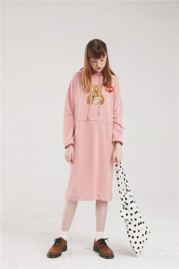 PROD Bldg Hoodie Dress One Size / Pink Spicy Ramen Long Sleeve Hoodie Dress