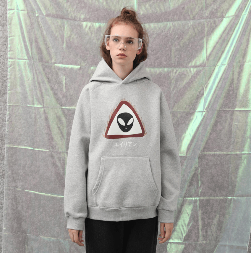 PROD Bldg Hoodie Grey / XS Caution Alien