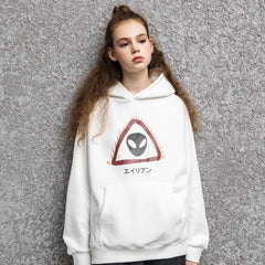PROD Bldg Hoodie White / XS Caution Alien