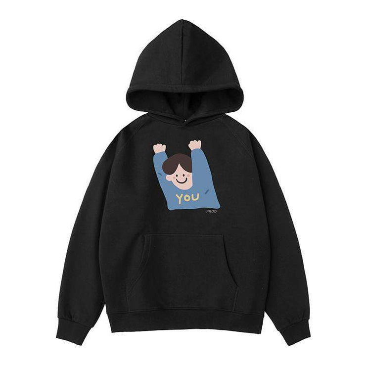 PROD Bldg Hoodie XS / Black Hands Up (Boy)
