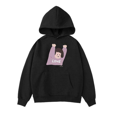 PROD Bldg Hoodie XS / Black Hands Up (Girl)