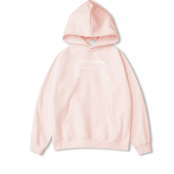 PROD Bldg Hoodie XS / Pink (White Graphic) Long Day (Dog)