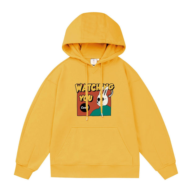 PROD Bldg Last Chance - Final Sale 3 / Yellow Watching You - Rabbit Lightweight Hoodie