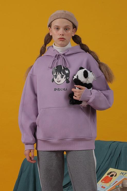 PROD Bldg Last Chance - Final Sale Kawaii - Girl Fleece Hoodie