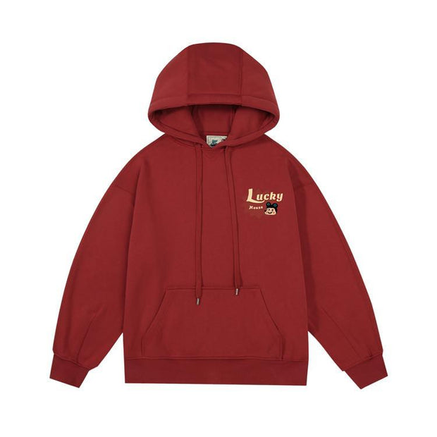 PROD Bldg Last Chance - Final Sale L / Brick Red Lucky Joker Fleece Hoodie