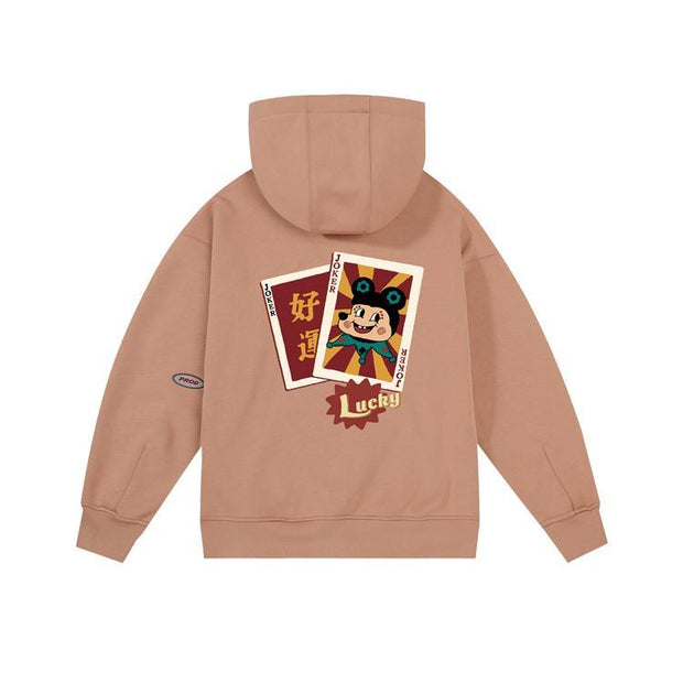 PROD Bldg Last Chance - Final Sale L / Coffee Lucky Joker Fleece Hoodie